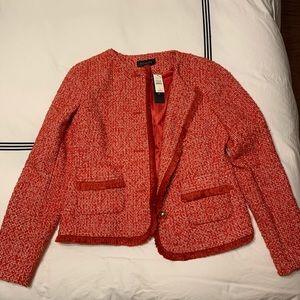 Red tweed Talbots jacket